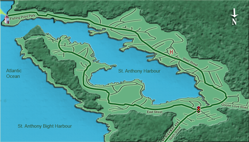 Town of St Anthony Interactive Map by Glacier Cove Website Design