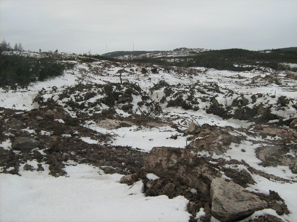 Polar Centre Phase One - As a result, the land (immediately behind St. Anthony Olympia) was blasted and prepared for the placement of the building.