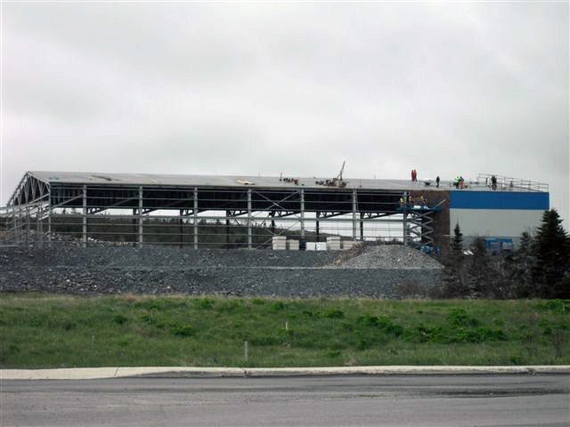 Polar Centre Phase Three - The exterior steel structure and interior of the building are taking shape.